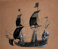 (1) 17th Century Galleon